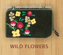dompet hpo namian etnik wild flower