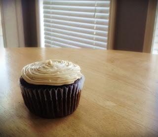 Salted Caramel Buttercream icing, Chocolate Cupcake, Salted Caramel Cupcake