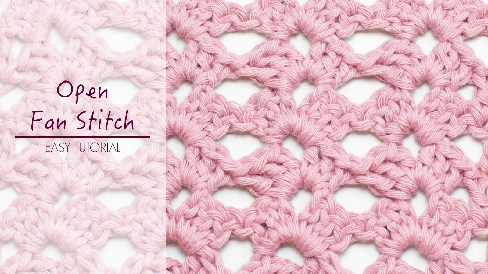 Crochet Stitch Open : ... Honey Craft, Crochet, Create: How To: Crochet The Open Fan Stitch