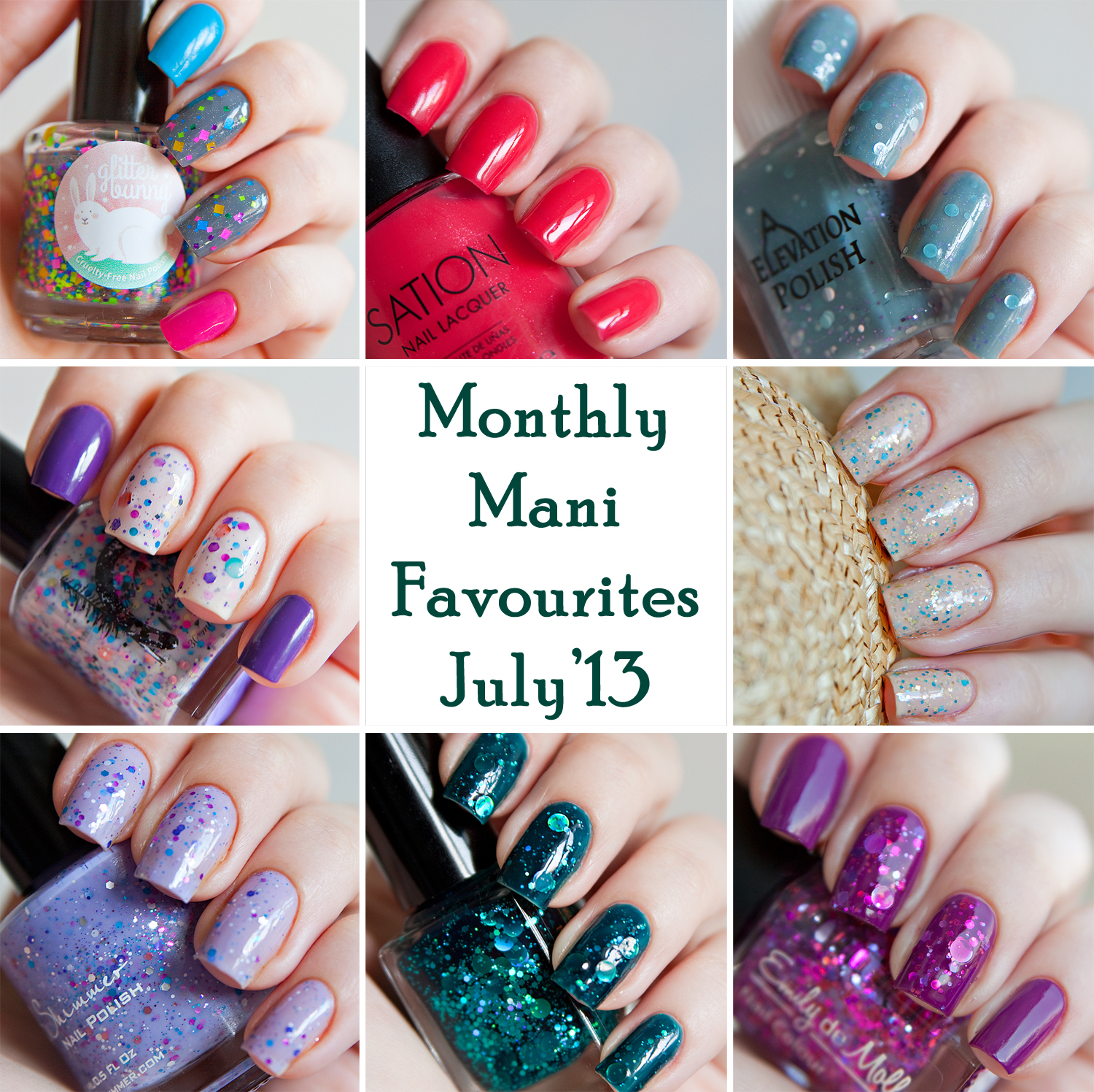 Monthly Mani Favourites - July 2013
