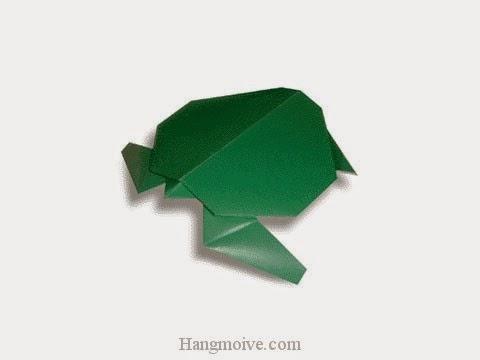 Cách gấp, xếp con rùa bằng giấy origami - Video hướng dẫn xếp hình sinh vật dưới nước - How to fold a Turtle
