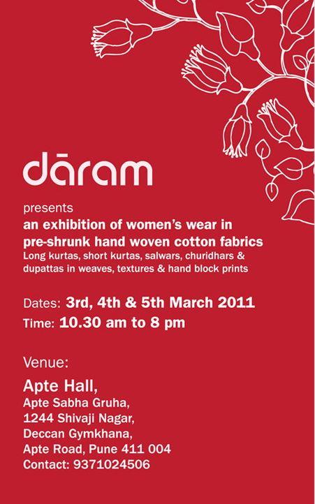 Daram darams first exhibition of womens garments in pune darams first exhibition of womens garments in pune stopboris Images