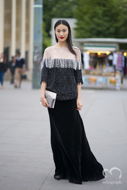 mitograph Shu Pei Qin Before Giorgio Armani Prive Paris Haute Couture Fashion Week 2013 Fall PFW Street Style Shimpei Mito
