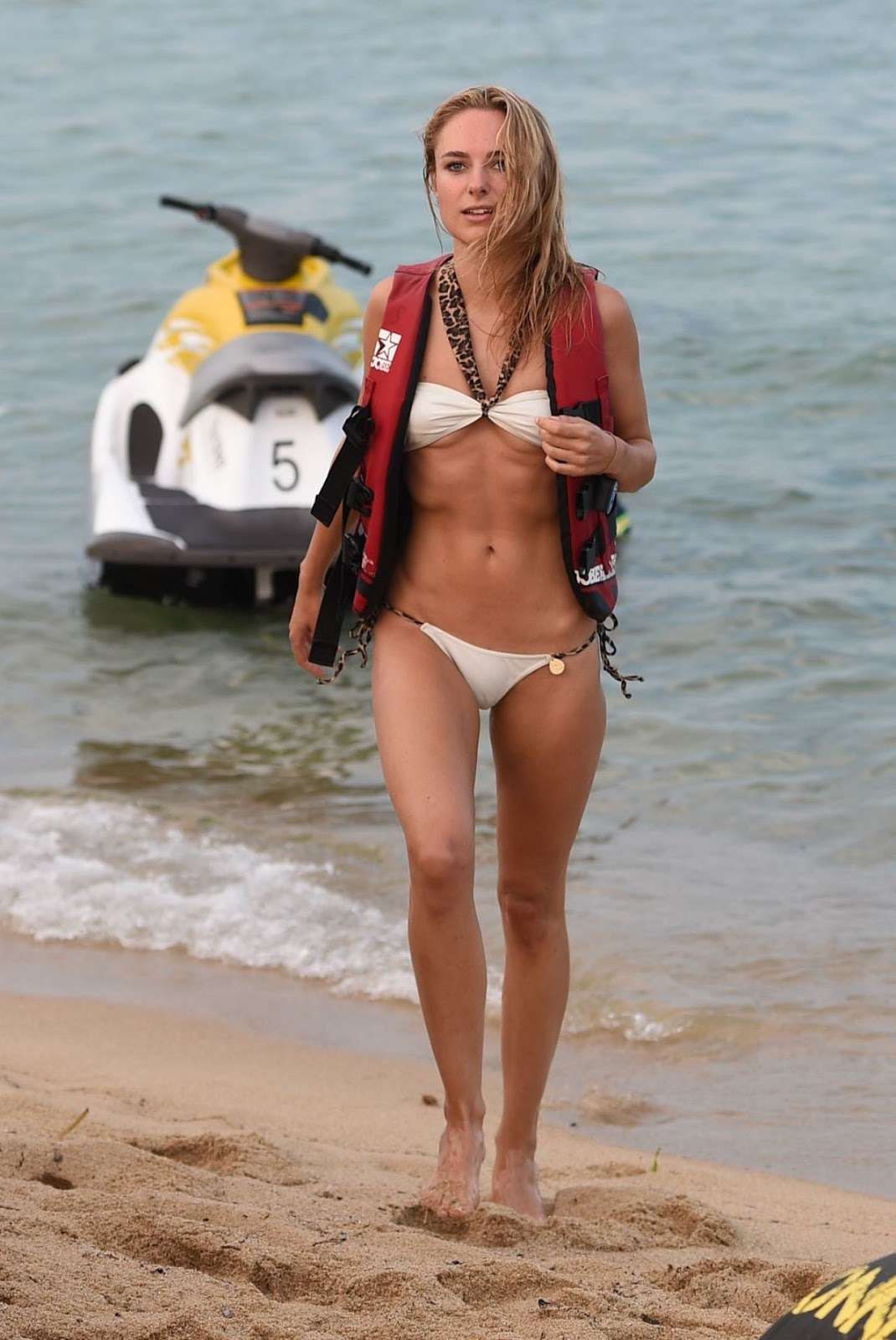 Kimberley Garner looks hot in a bikini in Saint Tropez