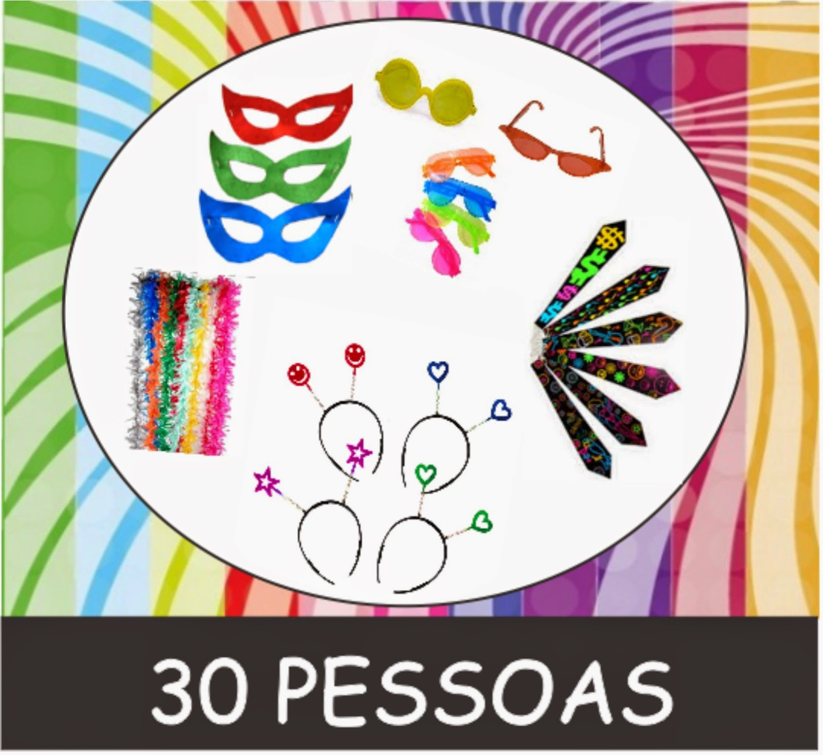 Kit Adereços para Festas / Baladas / Formatura / Debutantes