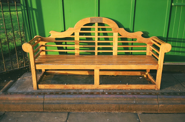 London bench Lupus Street Pimlico