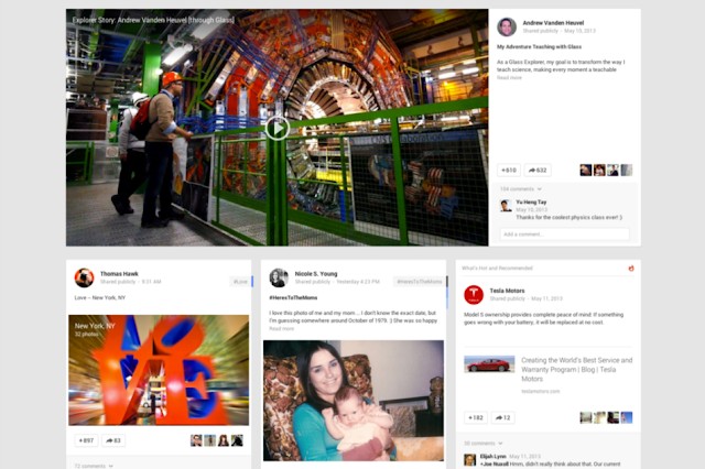 new multicolumned google+