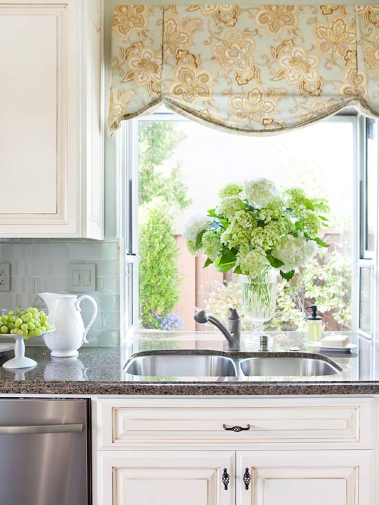 2014 kitchen window treatments ideas decorating idea for Window blinds ideas