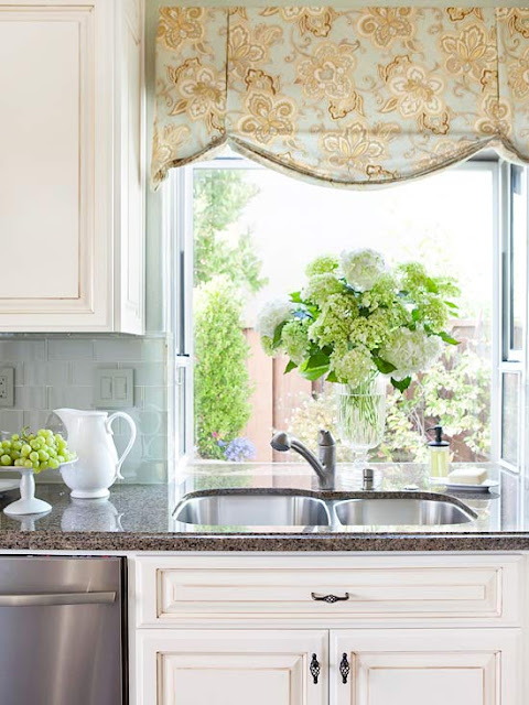 Modern furniture 2014 kitchen window treatments ideas - Modern valances for kitchen ...