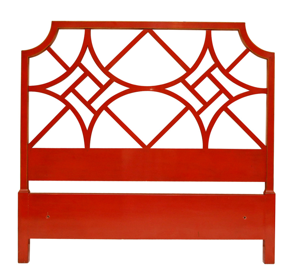 Chinese Chippendale Bed : red headboard bed bedroom design chinese chippendale chinoiserie style