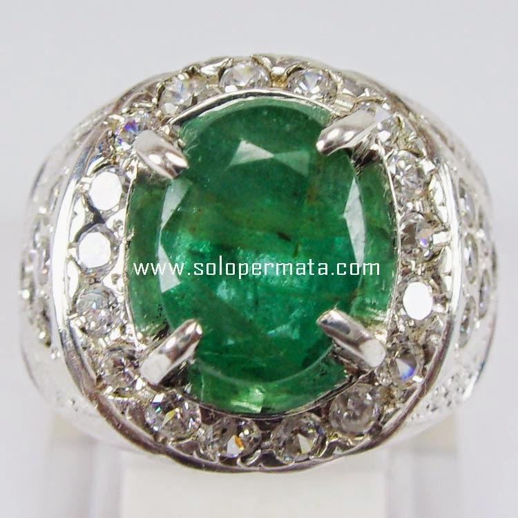 Cincin Batu Permata Zamrud Emerald beryl