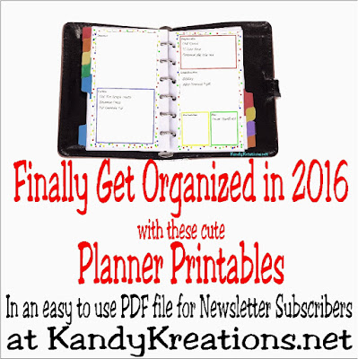 Make 2016 the year you get organized with 12 of the cutest planner printables and tutorials.  Make your new year's resolutions come true by printing out and using the free planner printables to help you organize your home and life.  Free printable PDF file is only available during the month of January, so hurry and get them today.