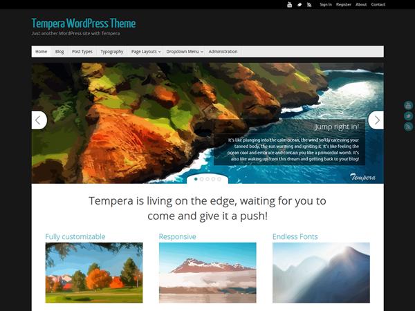 tempra Free WordPress theme 2014