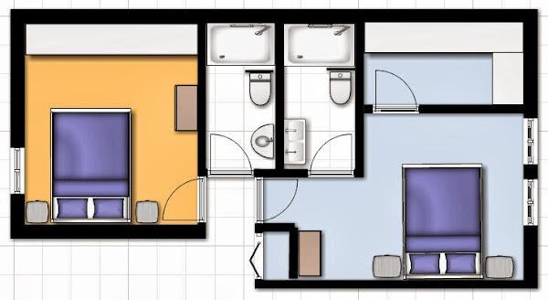 """Reforma Baño Estrecho:Pero la habitación extra (""""de invitados"""") se utiliza muy poco y me da"""