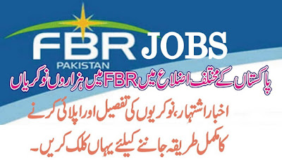 New Jobs in FBR 2015 for Different Cities of Pakistan