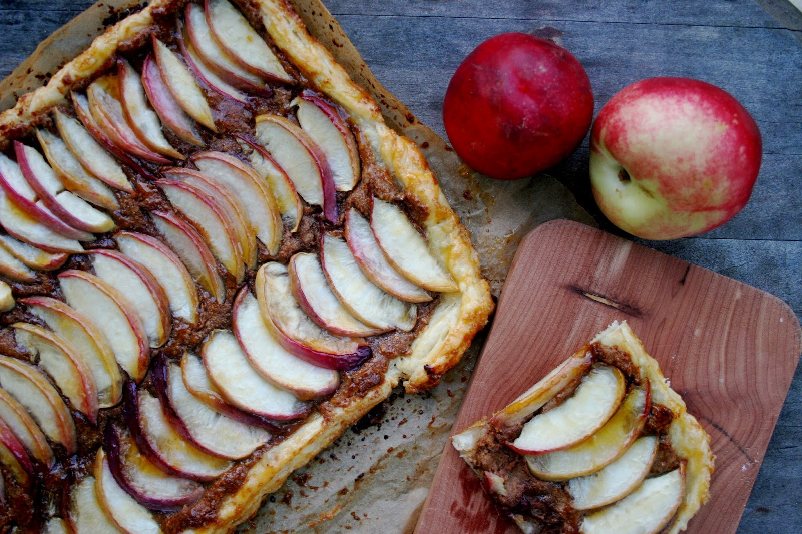 White Nectarine Frangipane Tart with Homemade Puff Pastry