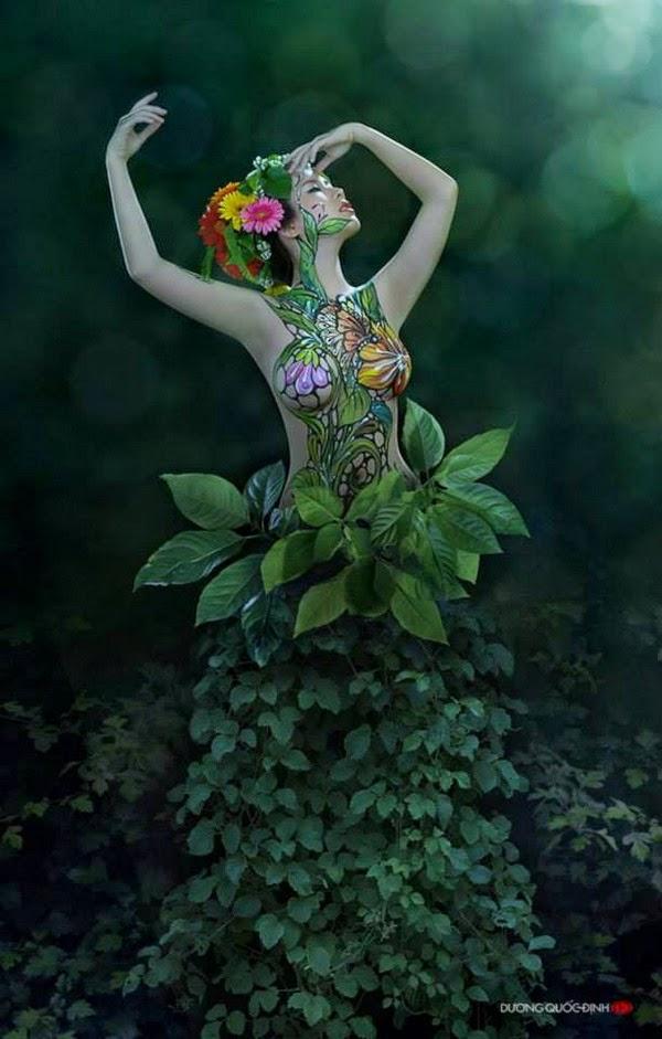 Ảnh gái xinh Body painting của Dương quốc định 26
