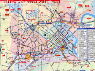 Map of the transport network in Ho Chi Minh City