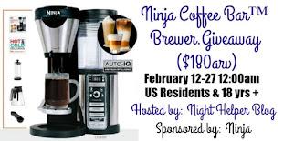 Ninja Coffee Bar Brewer Giveaway