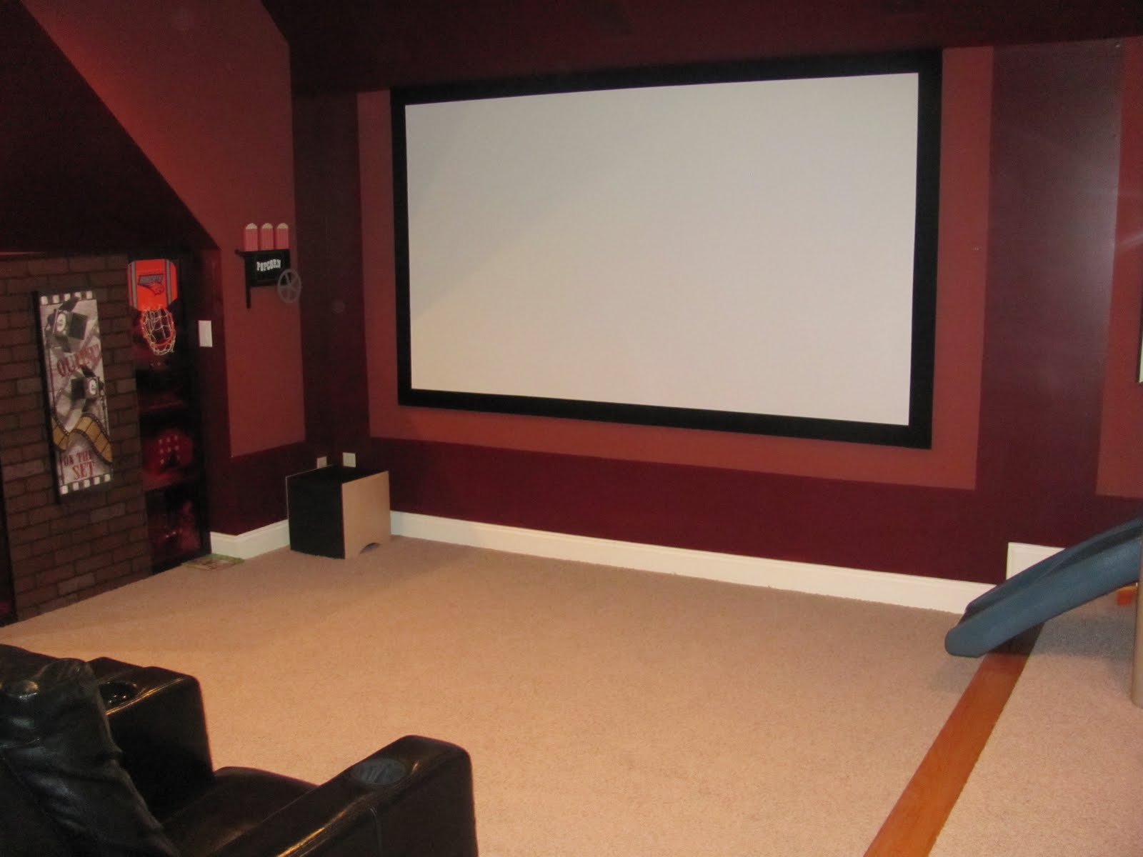 Home theater screen paint home painting ideas Home theater colors