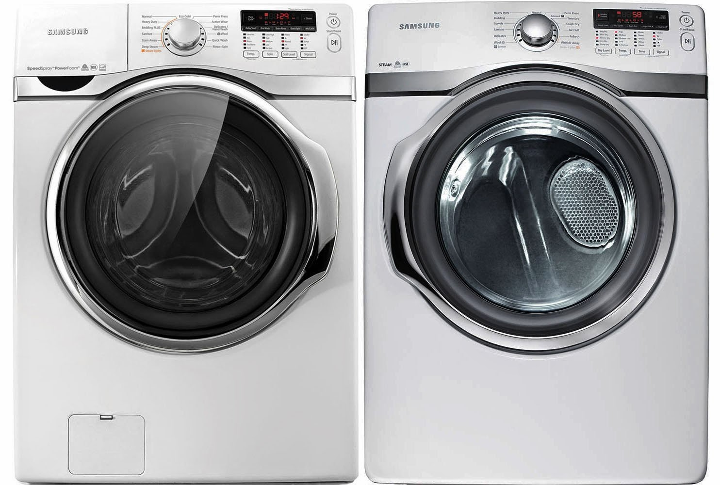 samsung 40 steam washer and electric dryers