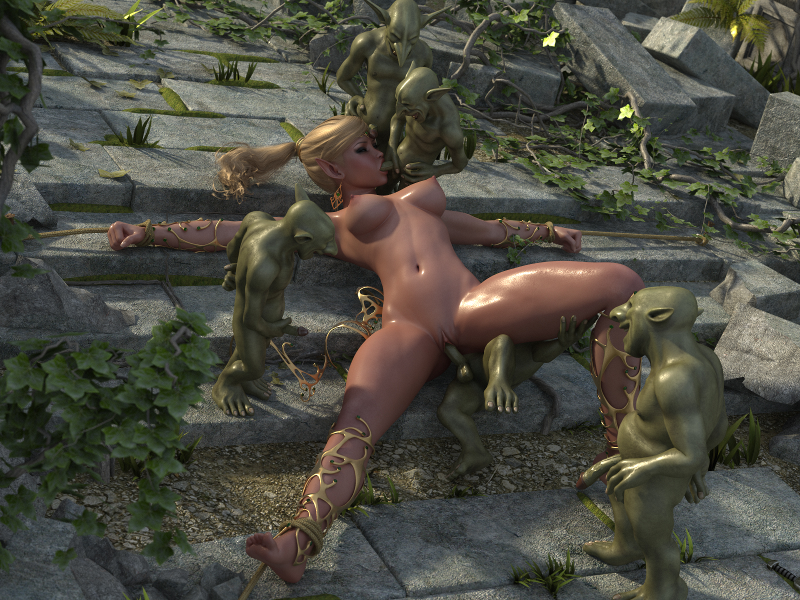 naken anime 3d
