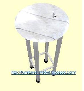 furniture bar kafe besi fiber