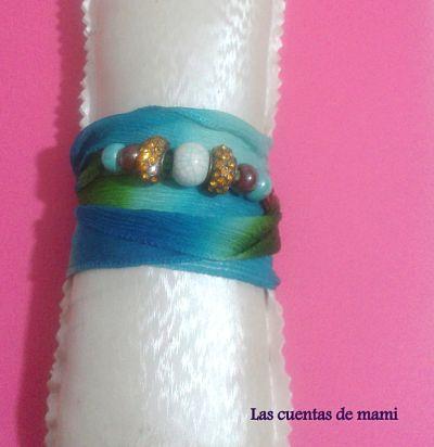 Pulsera seda azul