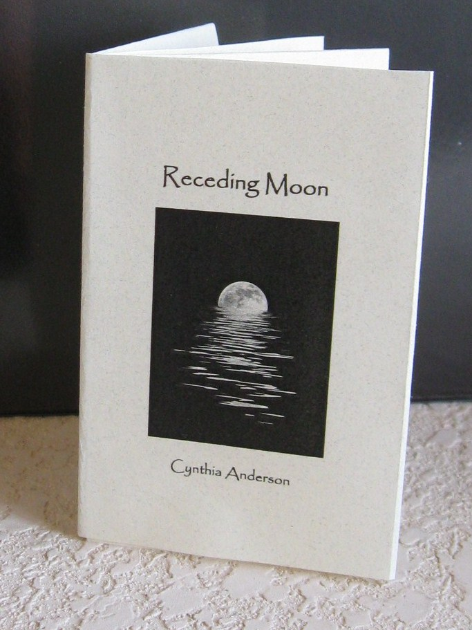 Cynthia39s hi desert blog receding moon an origami book for Poetry chapbook template