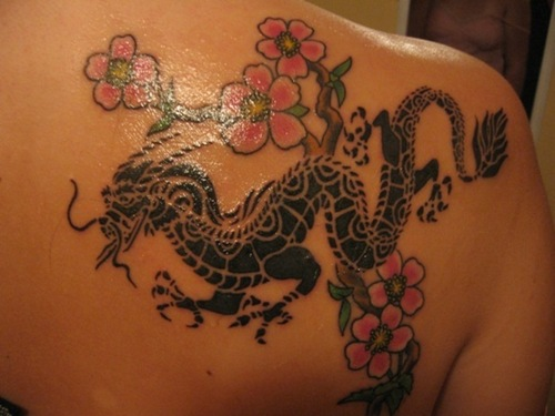 Tattoos Of Dragons On Girls. tattoo Dragon Tattoo film will