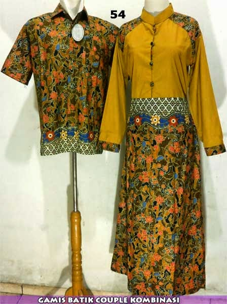 gamis-batik-couple-kombinasi-model-terbaru