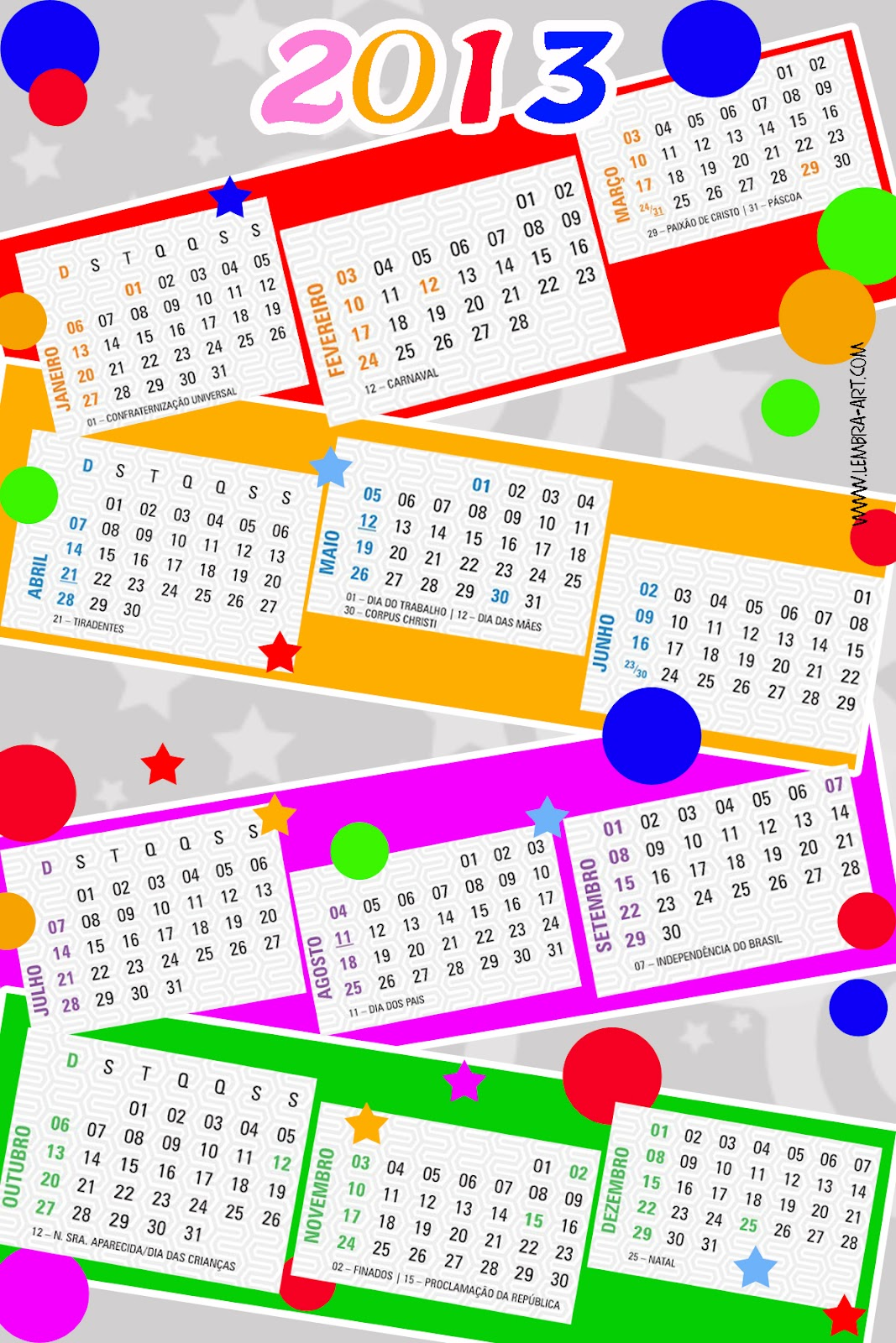... tera rapidamente um calendario de 2013 calendario 2013 para imprimir