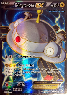 Magnezone EX Full Art Flashfire Pokemon Card