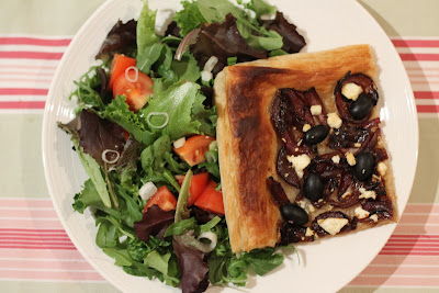 The Mrs Makes: Mid-week meals - Caramelised Onion, Black Olive and Feta tart
