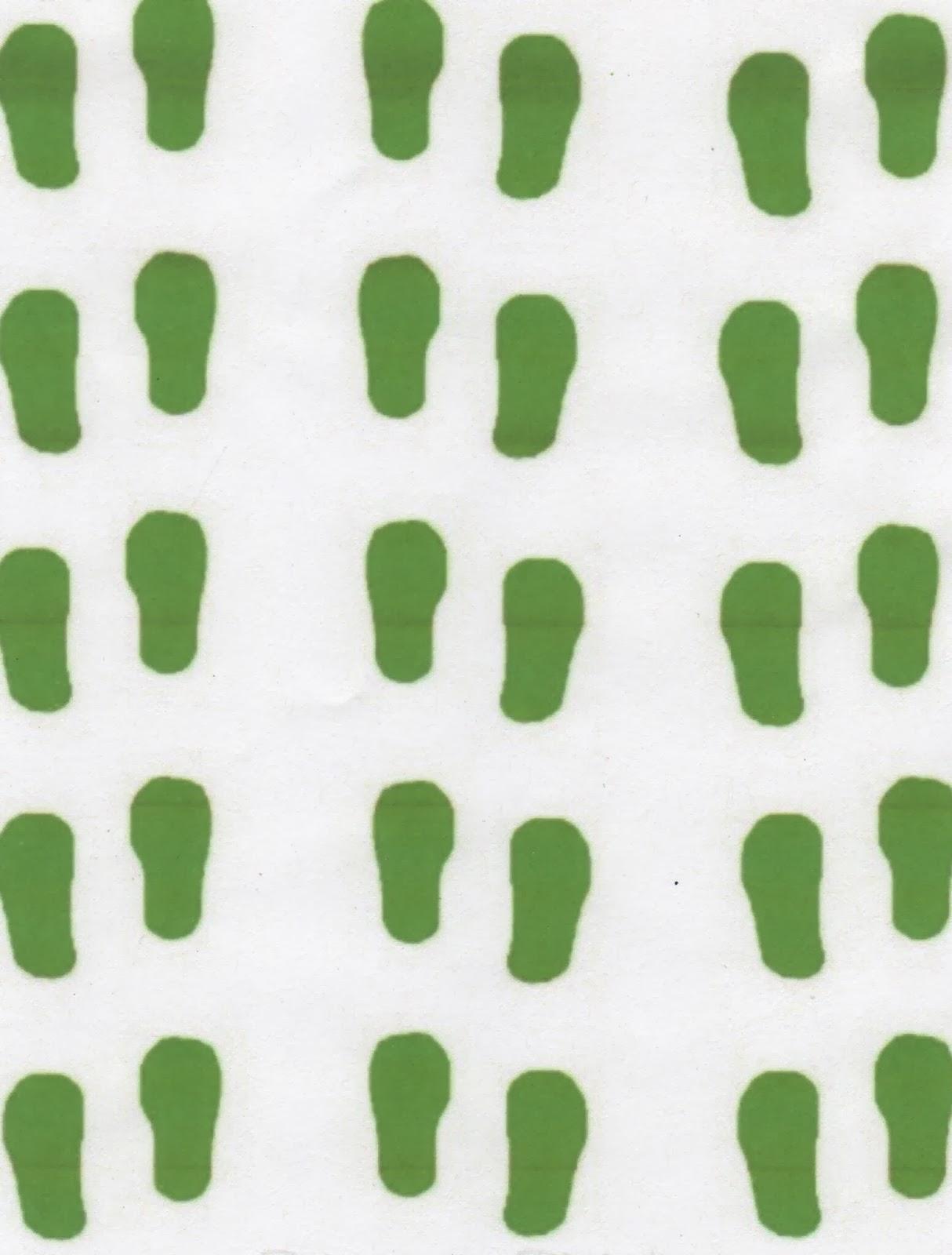 Universal image inside leprechaun feet printable
