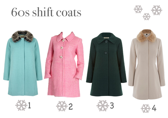 1960s style shift coats from autumn winter 2015