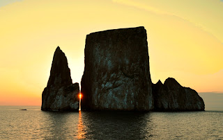Kicker Rock at Sunset, San Cristobal, Galapagos