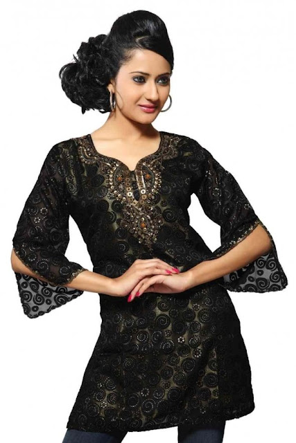 Black-Indian-Traditional-Kurti