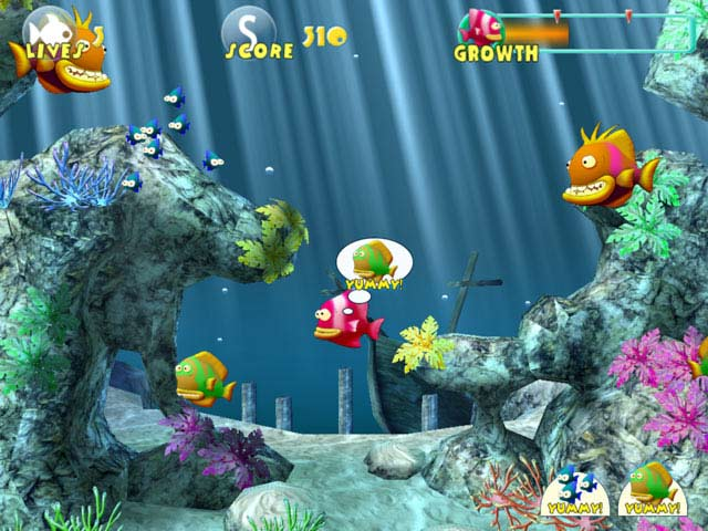 Gamekiw games fish tales for Fish eat and grow
