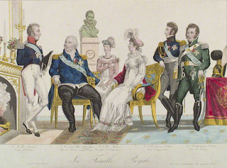 French Royal Family circa 1822