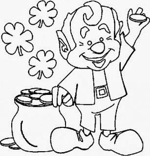 Dibujos de San Patricio para Colorear, parte 1