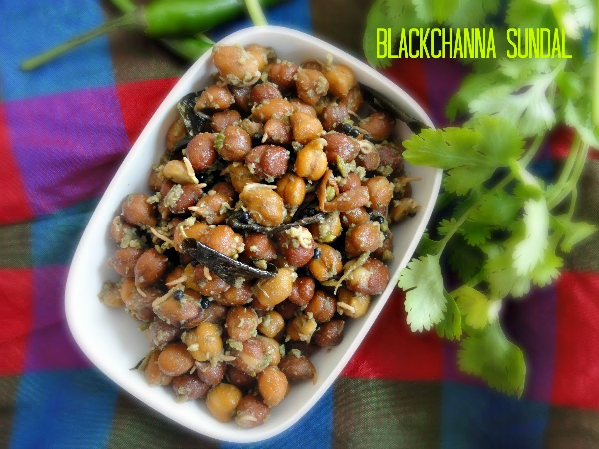 Masala sundal with chickpeas