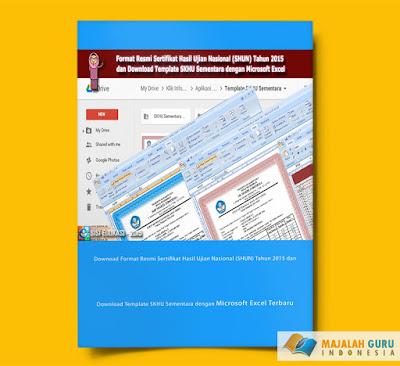 Downoad Format Resmi Sertifikat Hasil Ujian Nasional (SHUN) Tahun 2015 dan Download Template SKHU Sementara dengan Microsoft Excel Terbaru 2015