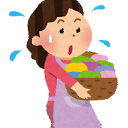 家事をする女性・主婦のイラスト