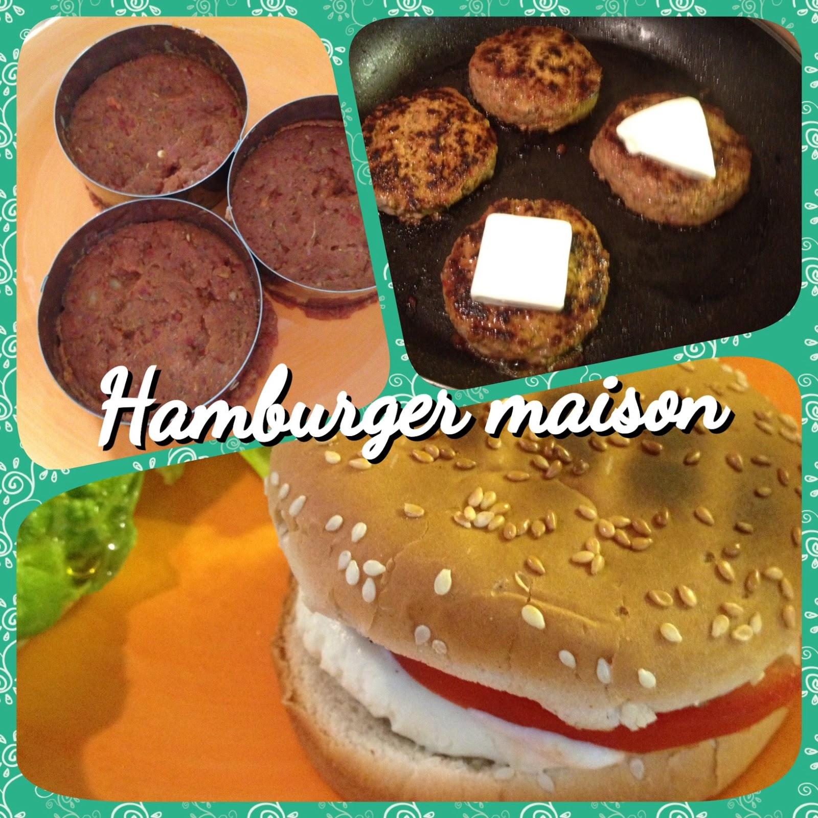 Mes petits menus recette hamburger maison 7pp - Recette hamburger maison original ...