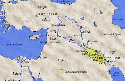 Карта шумеров http://historykz.blogspot.com/