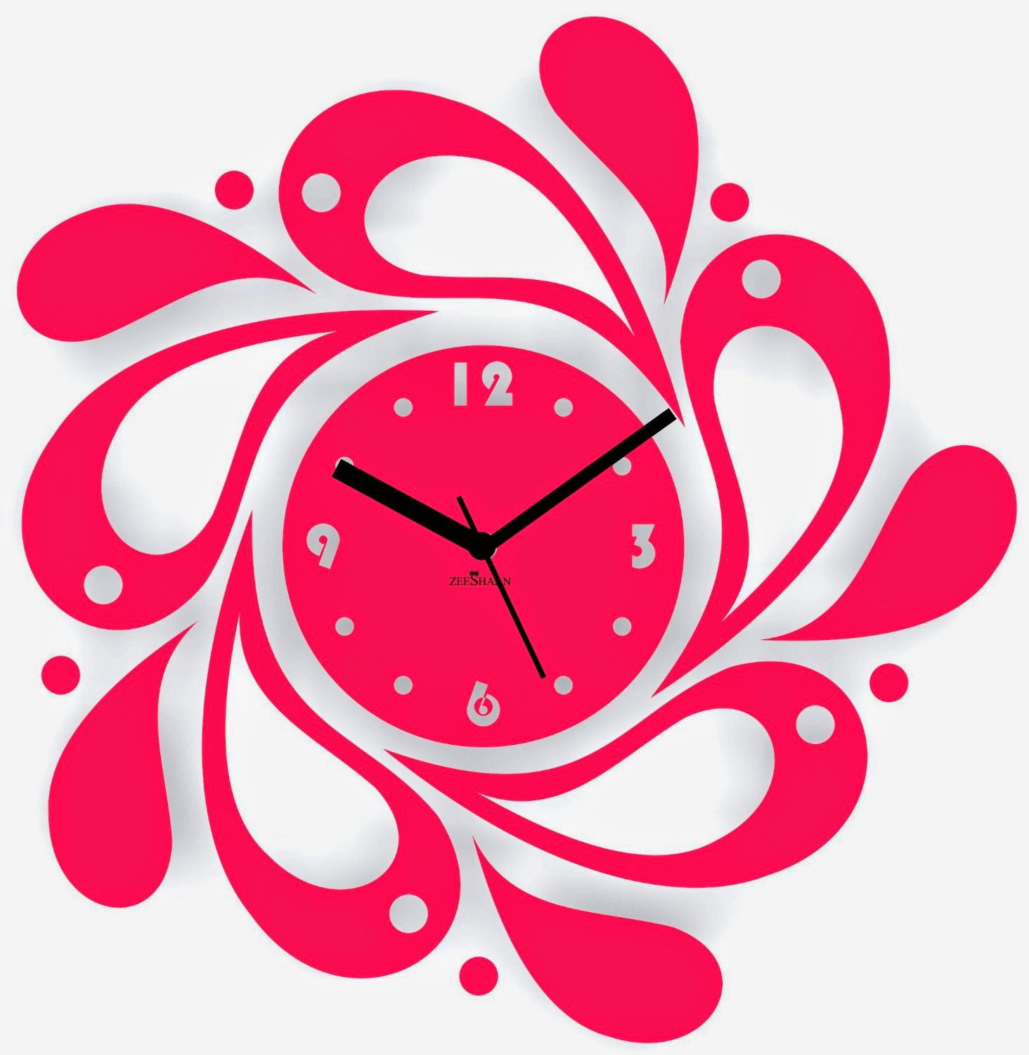 designer wall clock pink amazon online shopping deals coupons for online shopping lovers