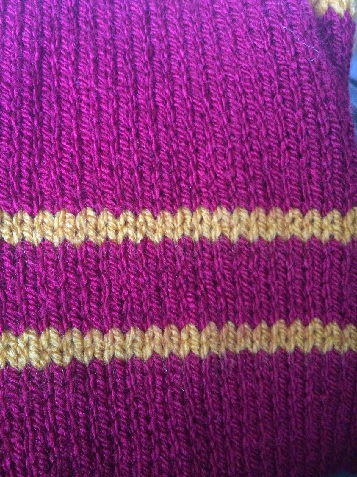 Hogwarts house scarves pattern | Knerdcraft