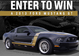 Enter to win a 2013 Ford Mustang GT