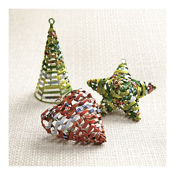 Eco Mama's Guide To Living Green: Recycled Christmas Tree Ornaments